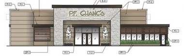 P.F. Chang's China Bistro was founded in Arizona in 1993. Plans submitted to the city of Ann Arbor by Briarwood Mall owner Simon Property Group include this building elevation.