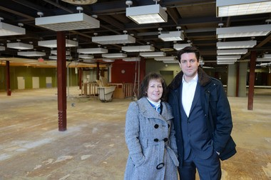 PRIME Research's Julie Myers-Beach (left) and Timo Thomann-Rompf worked to secure the lease in Borders former downtown store.