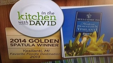 """QVC awarded Ypsilanti one of its """"Golden Spatula"""" awards for the top foodie destination."""