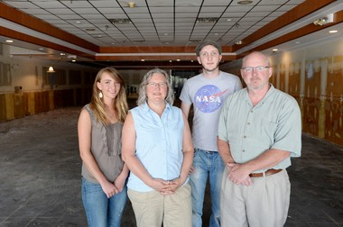 The Jackson family, from left: Emma, Maren, Roy and Jeff. The new space in Westgate is about 900 square feet larger than Seva's current space.