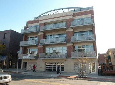 Loft 322 on East Liberty Street in Ann Arbor, where condo sale prices are setting records this year.