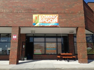 Orange Leaf frozen yogurt shop is preparing to open in the shopping center anchored by Busch's at the corner of South Main Street and Ann Arbor-Saline Road.