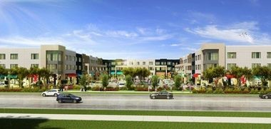 A rendering of the Packard Square project in Ann Arbor.