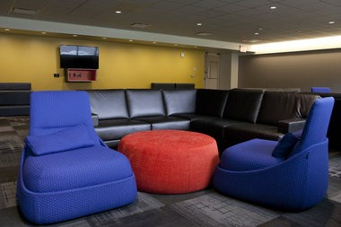 The recreation room in the newly renovated South Quad at the University of Michigan in Ann Arbor on Aug. 22, 2014. Patrick Record   The Ann Arbor News