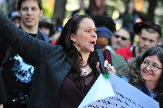 Charmie Gholson speaks at Hash Bash in Ann Arbor in April 2012. (Ryan Stanton | The Ann Arbor News)