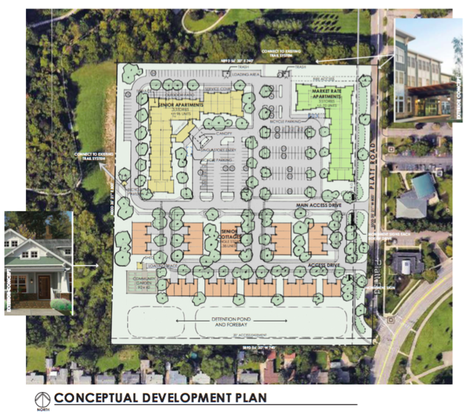 Burton-Katzman LLC's proposal for the county-owned property at 2270 Platt Road next to County Farm Park in Ann Arbor.