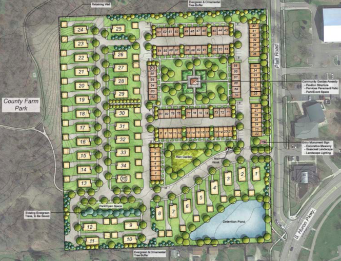 Robertson Brothers' proposal for the county-owned property at 2270 Platt Road next to County Farm Park in Ann Arbor.