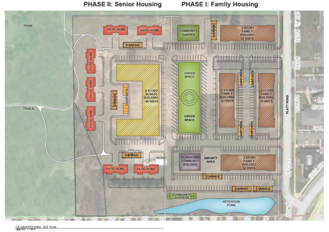 TWG Development LLC's proposal for the county-owned property at 2270 Platt Road next to County Farm Park in Ann Arbor.