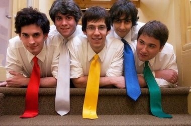 Tally Hall members in 2007, from left: Joe Hawley, Ross Federman, Rob Cantor, Zubin Sedghi and Andrew Horowitz.