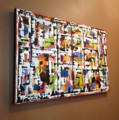One of Dan Saferstein's works, now on display at Vinology.
