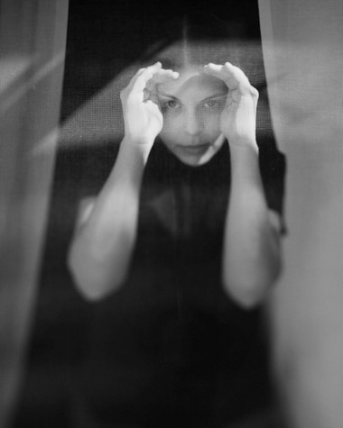 """""""Susan through Fly Screen"""" by Byron Darby. [archival inkjet print] Courtesy of River Gallery"""