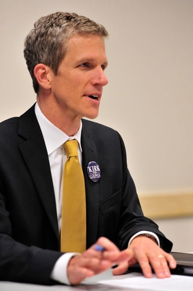 Kirk Westphal at a candidate forum last year.