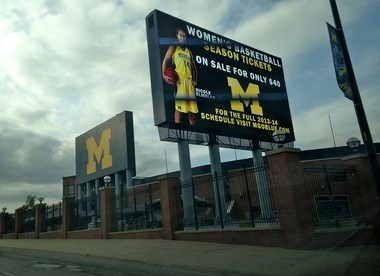 The billboard as it looked on Oct. 4.
