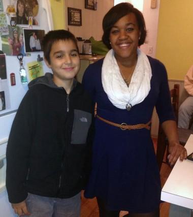 (L-R) Ryan Finn, 11, of Allen Park with his kidney donor Erin Roberts, 23, of Ypsilanti.