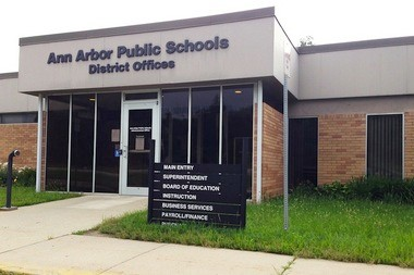 The central office for the Ann Arbor Public Schools at the Balas Administration Building off of State Street.