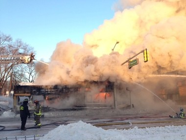 Happy's Pizza in downtown Ann Arbor caught fire early Tuesday morning.