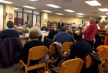 Members of the public attended Thursday night's meeting and expressed concerns about the footing drain disconnect program.