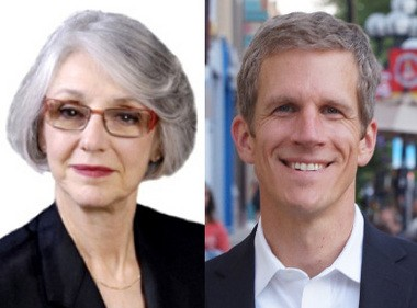 Nancy Kaplan, left, and Kirk Westphal, right, are vying for an open 2nd Ward seat on the Ann Arbor City Council.
