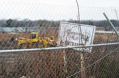 The former Georgetown Mall site as it looked on Tuesday, Dec. 9, 2014.