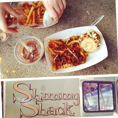 Former Ann Arbor News reporter Lizzy Alfs documented her meal of a slider, milkshake and chili cheese fries at when Shimmy Shack made an appearance at the Ann Arbor Farmers Market food truck rally last summer.