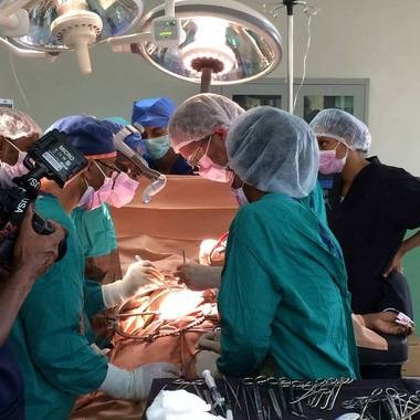 University of Michigan surgeons lead a team of doctors in performing the first successful kidney transplants in Ethiopia.