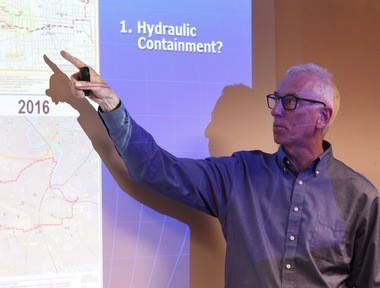 """There's a concern that if the groundwater with 1,4-dioxane in it somehow gets north of M-14, it's a downhill path to Barton Pond from there, and I think that's essentially right,"" Lemke said."