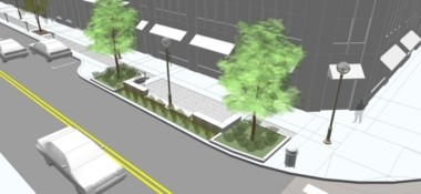 The Ann Arbor Downtown Development Authority has released this image showing what the redesigned South U streetscape will look like.