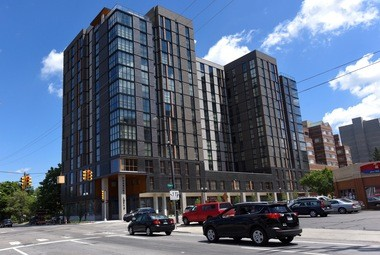 The new Foundry Lofts apartment high-rise at the northeast corner of Huron and Division in downtown Ann Arbor on Thursday, July 14, 2016.
