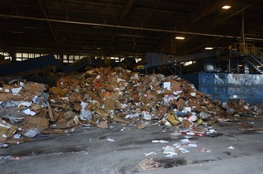 Ann Arbor's recycling plant on Aug. 10, 2016.