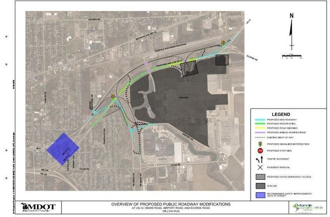 Us 12 Michigan Map.Mdot Proposes 10 Million U S 12 Project To Improve Safety Near