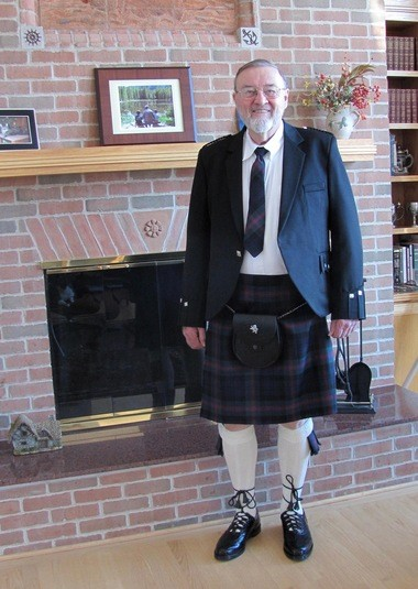 """Bob Baird, a Republican candidate for the 55th District Michigan House seat, included this photo of himself on a campaign brochure, introducing himself as """"Thrifty Bob Baird."""" He writes, """"My ancestors came to this country from Scotland in the early 1700s. Scottish people are known to be thrifty people."""""""
