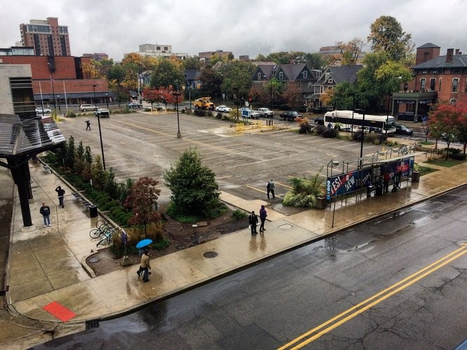 The Y Lot next to the Blake Transit Center in downtown Ann Arbor on Oct. 20, 2016.