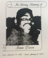 Isaac Dixon as he appeared on his 2001 funeral program.