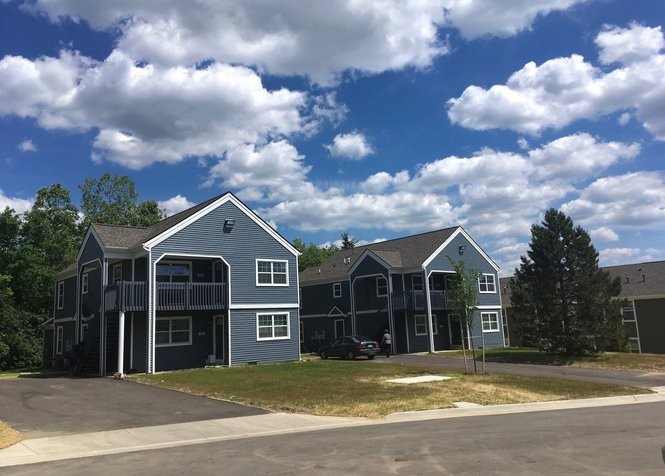 Two newly renovated duplexes at the West Arbor complex on North Maple Road in Ann Arbor on June 8, 2017. These are the only two buildings on the site that were saved when most of the rest of the site was demolished to make way for the new development.