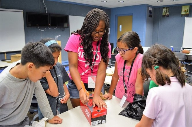 Ann Arbor high school students involved in the nonprofit group INNO ran an academic summer camp at Concordia University in 2017. The camp can accommodate up to 40 middle school students this summer. (Photo provided by INNO)