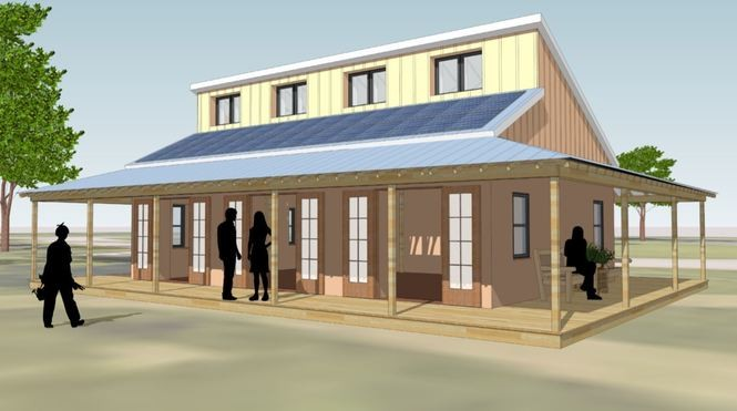 A team of 25 University of Michigan students are in the process of constructing an off-the-grid building on its Campus Farm, after breaking ground on May 2.