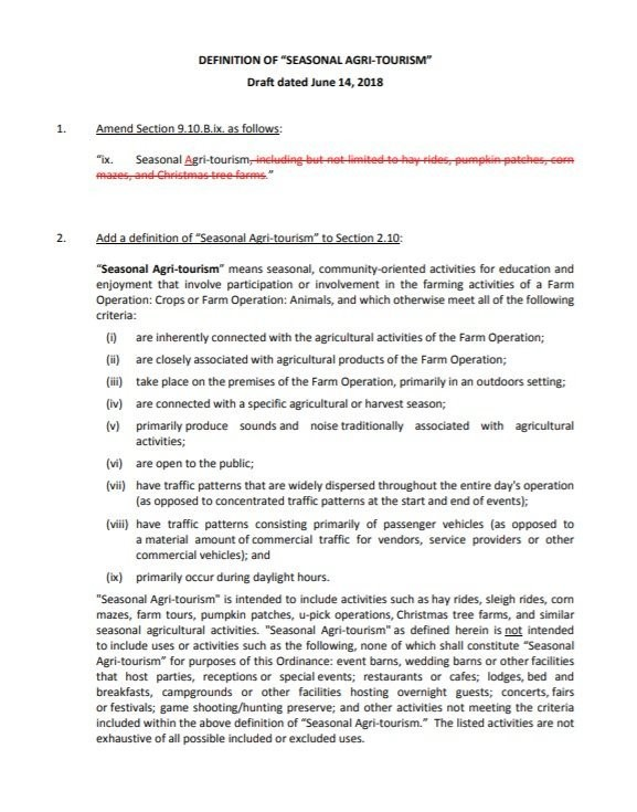 Draft of the proposed amendment to Webster Township's zoning ordinance that the township board is expected to vote on Thursday, Aug. 9, 2018.