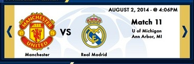 The International Champions Cup website briefly had the University of Michigan in Ann Arbor listed as the host of the Real Madrid vs. Manchester United soccer game.