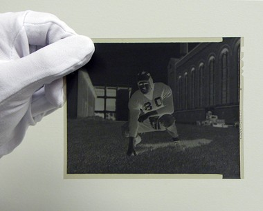 One of the larger negatives from the Michigan Sports Media Collection that the Michigan History Project is digitizing in partnership with the MLive Media Group.