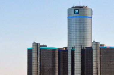 General Motors world headquarters in the Renaissance Center in downtown Detroit.