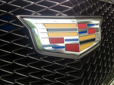 The new Cadillac crest on the Cadillac Elmiraj concept.