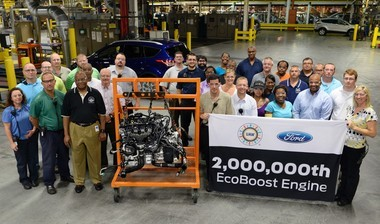 Ford Motor Co. recently produced its 2 millionth EcoBoost engine, as demand for the family of engines continues to grow globally. The 2 millionth EcoBoost engine -- a 2.0-liter unit -- rolled off the line at FordâÂÂs Louisville, Ky., last week and will power a Ford Escape, officials said.