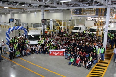 Chrysler workers celebrate the start of production of the 2014 ProMaster van in July at the companyâs Saltillo Van Assembly Plant in Coahuilla, Mexico.