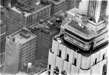 When the Empire State Building opened in 1931 as the worldâs then-tallest building â a title it held for nearly 40 years â no one would have envisioned trying to transport a car up in the original elevators. But in 1965, a prototype Mustang convertible was sliced into three main sections plus windshield so that the sections would fit into those elevators.