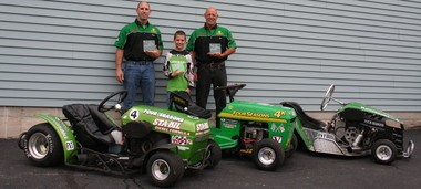 Jayson Mikula, left, Isaac Ogg, center, and Jim Mikula will race in this weekend's Jim Keech Memorial Race for Huntington's Disease.