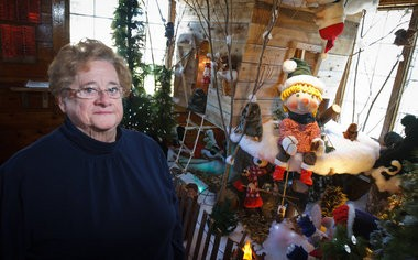 Mary Ida Doan, pictured here in the Nate and Mary Ida Doan Santa House, will be the first female inducted into the Santa Claus Hall of Fame.