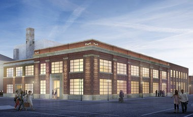 A rendering of The Times Lofts apartment building at 311 Fifth Street.