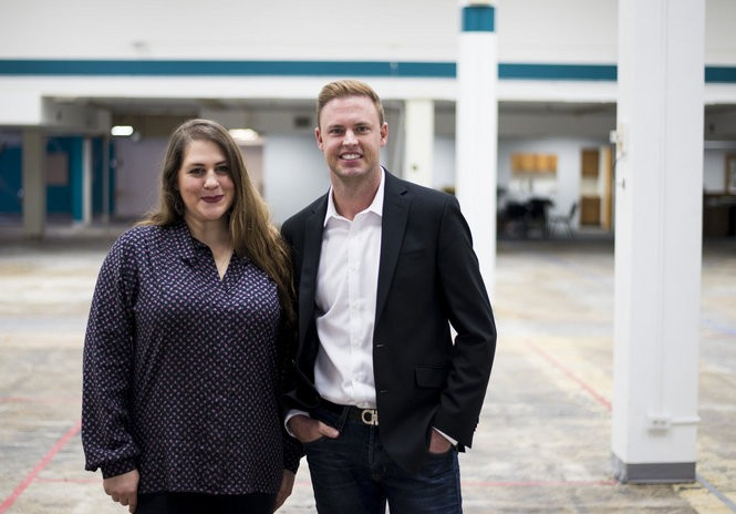 Developer Matthew Meehan, right, and Market Manager Ruth Shemanski stand in the future space of Marketplace Bay City, 401 Center Ave. on Oct. 21, 2016.