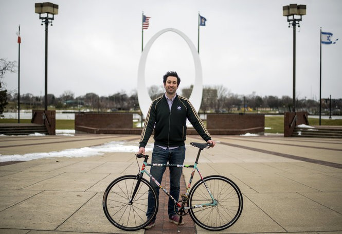 Pat Tanner, recipient of the Bay City Times' 2016 Dick Hardy award, poses in front of the Friendship Ring at Wenonah Park on Dec. 30, 2016. Tanner began organizing B.A.R.S. of Bay City - a weekly group bike ride that regularly draws hundreds of cyclists to Downtown Bay City - in May 2015. The group starts their ride at the Friendship Circle every Thursday, weather permitting, during the summer months.