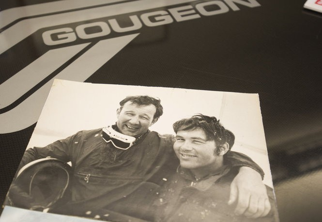 A photo of Meade Gougeon, left, and his brother, Jan Gougeon. The brothers were inducted into The National Sailing Hall of Fame in 2015. Jan Gougeon died in 2012. (Yfat Yossifor | The Bay City Times)